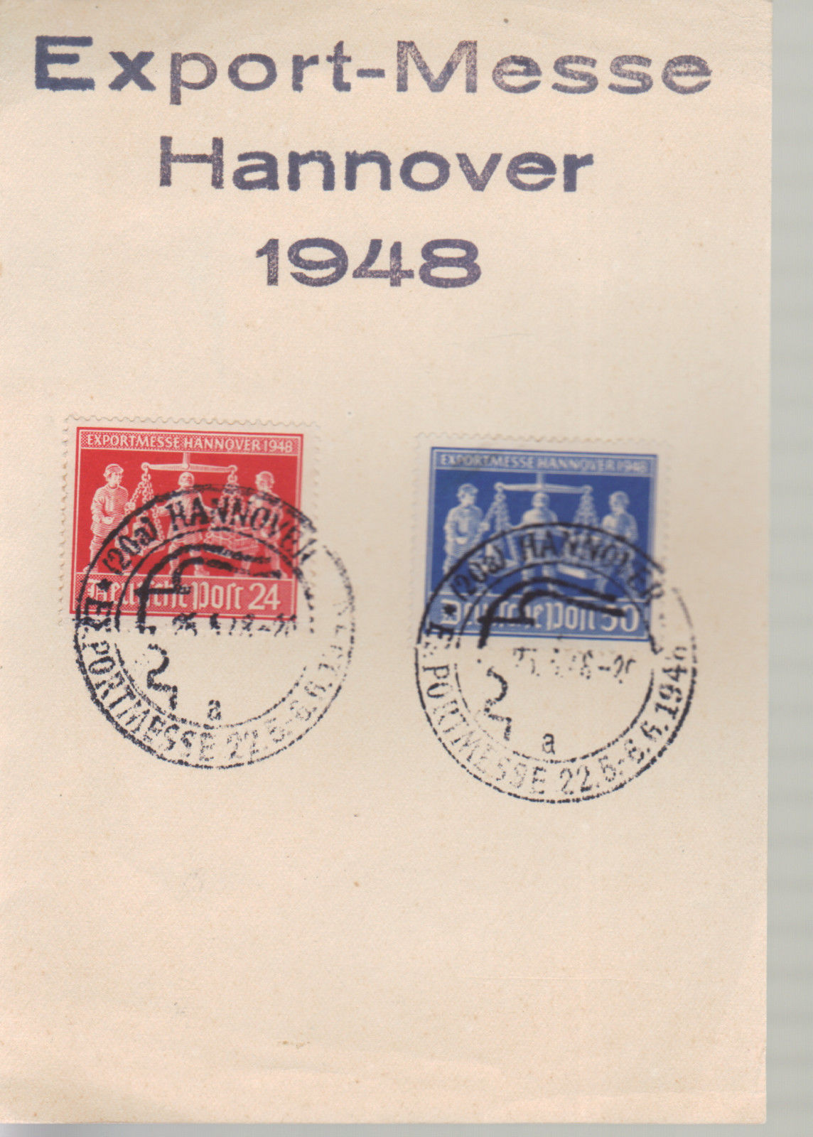 German 1948 Hannover Export Messe special cancel