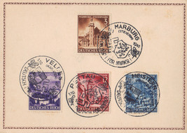 Germany Card Special Cancel January 10 1941 #806, 807, 808, 809 #1 - $7.35