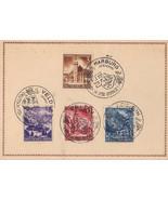 Germany Card Special Cancel January 10 1941 #806, 807, 808, 809 #2 - $7.35