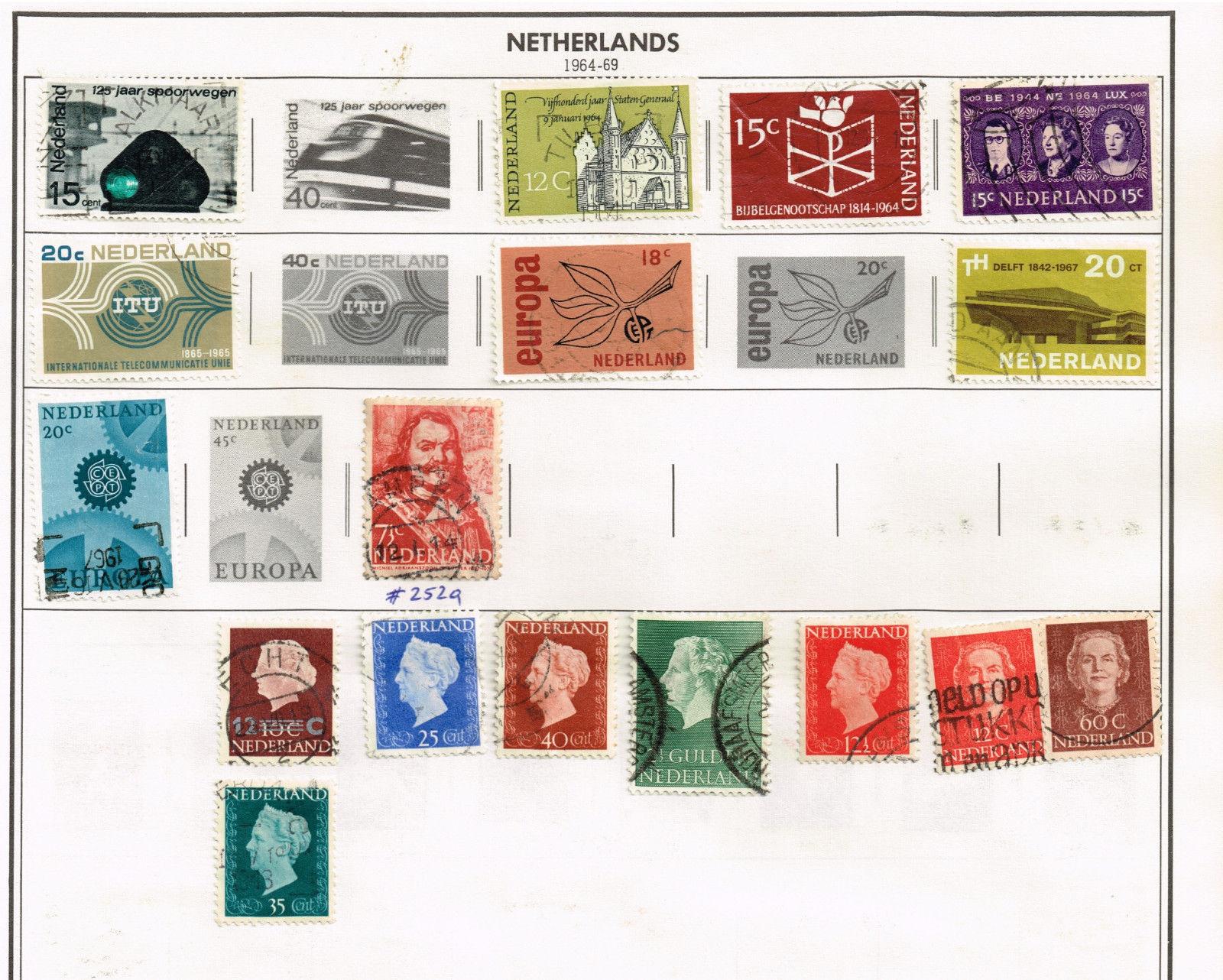 112 Netherlands 1944-1969 stamps