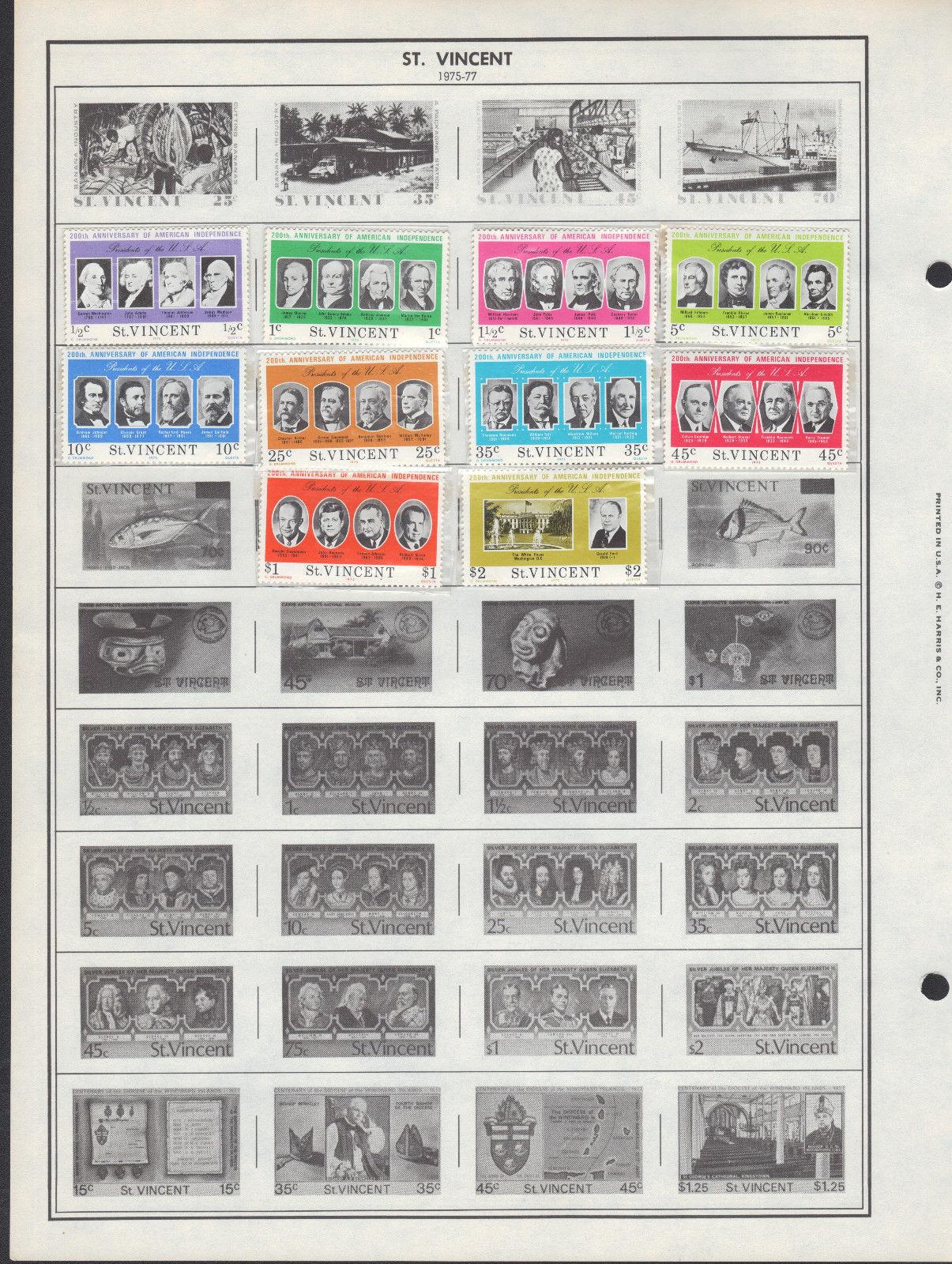 21 St Vincent 1940-1980 stamps