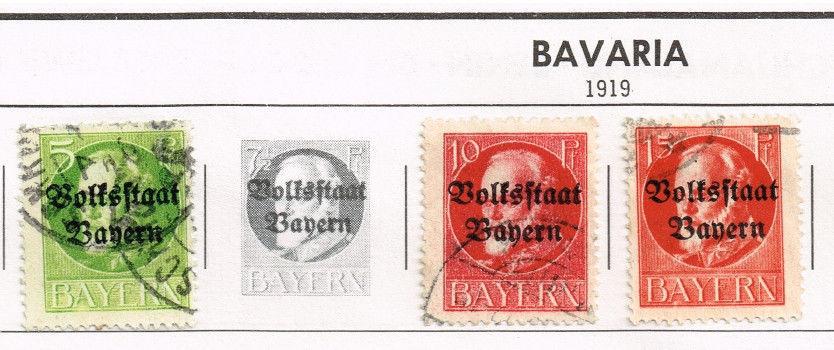 47 Bavaria stamps 1900-1920