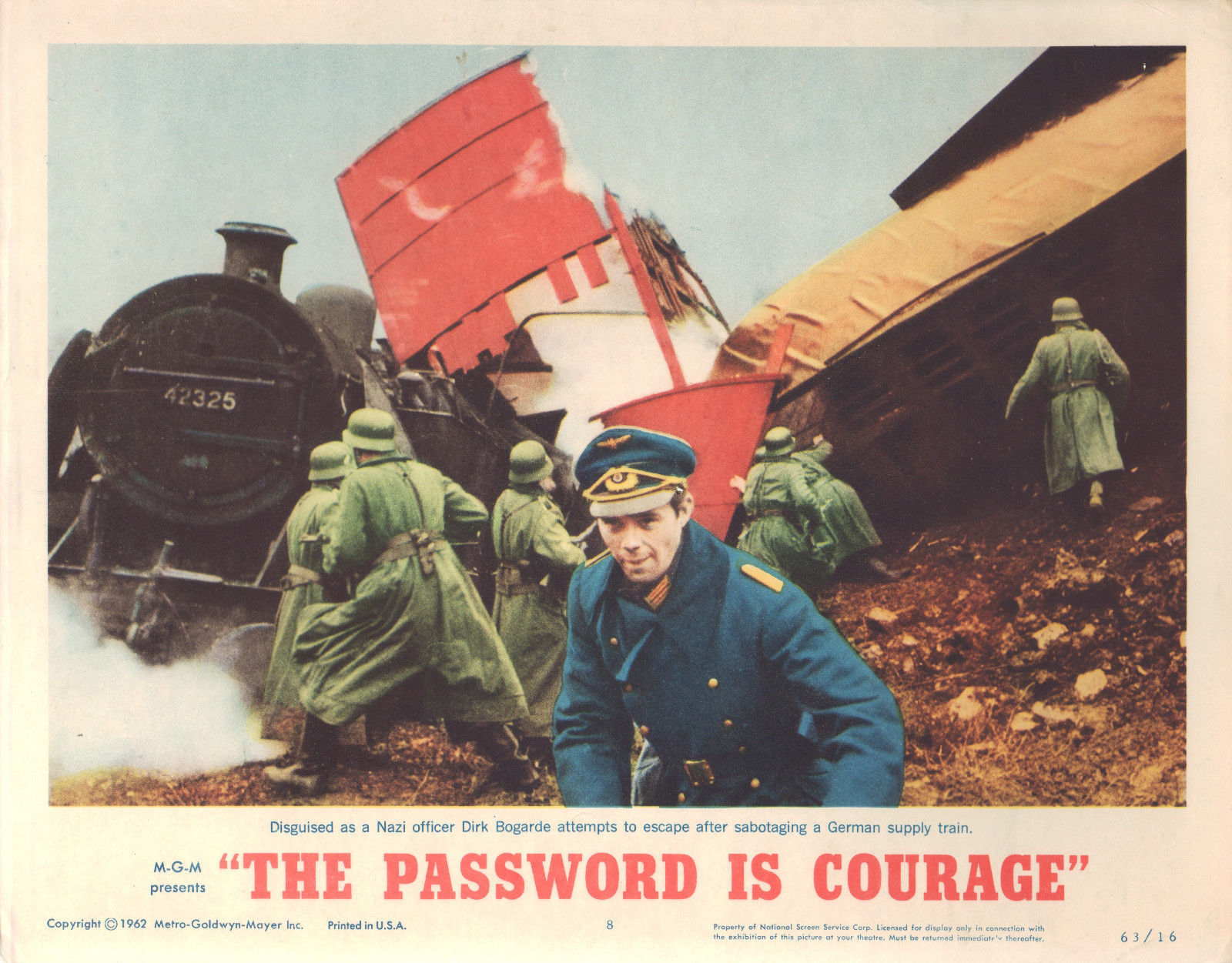 The Password is Courage 1963 11x14 Lobby Card #8