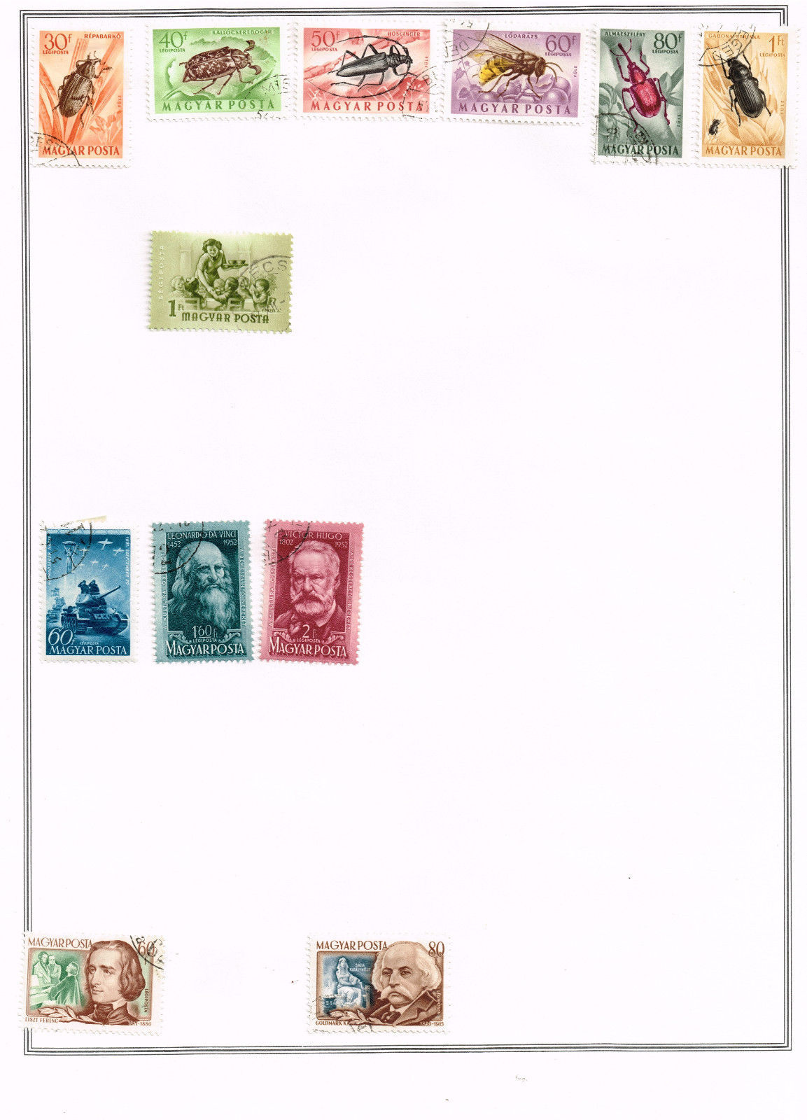 63 Hungary 1913 - 1965 stamps - semi-post / airmail
