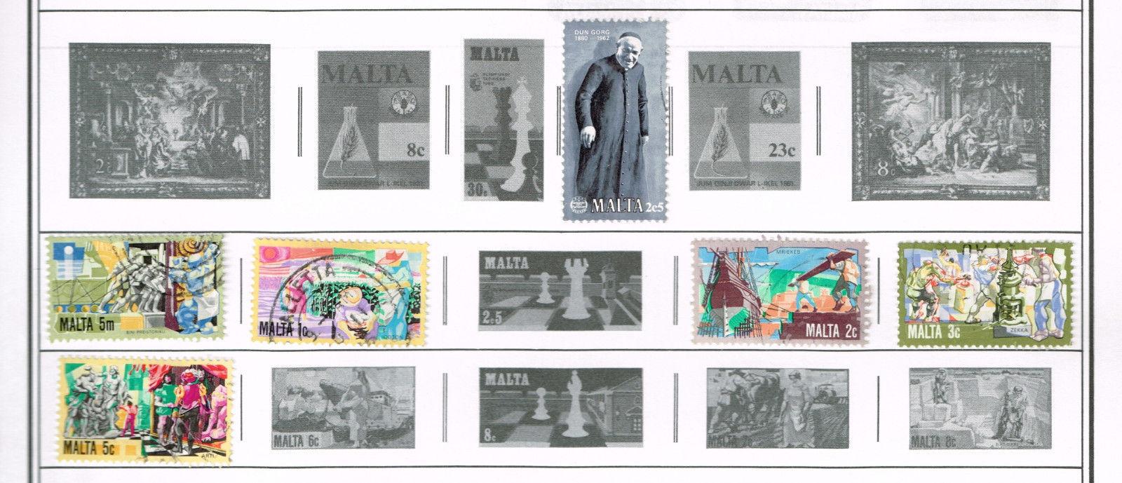 72 Malta 1900-1991  stamps