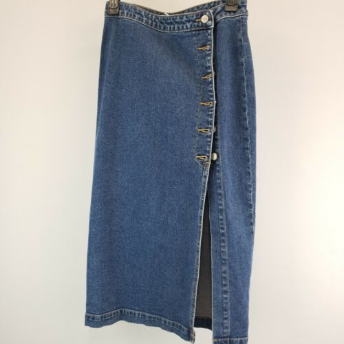 Primary image for NWOT $58 Free People Denim Skirts With Buttons Size 2