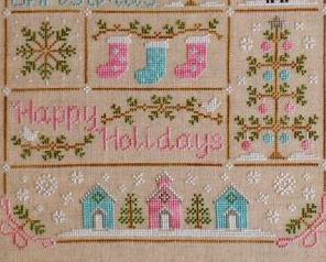 Vintage Christmas holiday cross stitch chart Country Cottage Needleworks