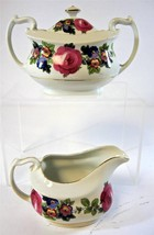 Vintage Floral Pattern Phoenix China Czechoslavakia Creamer & Sugar - $19.94