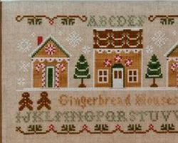 Gingerbread Houses christmas cross stitch chart Country Cottage Needleworks