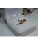 14K Yellow Gold 8mm Ball Stud Earrings 0.7g Vintage - $59.39