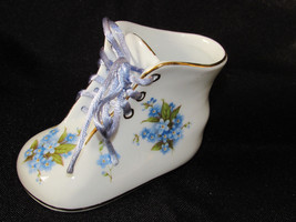 NANTUCKET BABY BOOT SLIPPER BOOTY W/ SHOESTRING PORCELAIN Blue Floral - $15.83