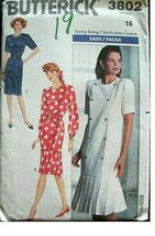 BUTTERICK PATTERN 3802 MISSES MISSES PETITE DRESS SIZE 14 RATED EASY - $9.75