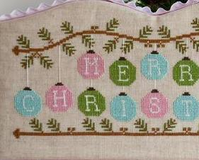 Merry Christmas ornaments christmas cross stitch chart Country Cottage Needlewor