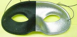 Mardi Gras Mask Half Silver and Half Black Eye mask - $4.00