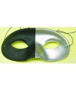 Mardi Gras Mask Half Silver and Half Black Eye mask - $4.00
