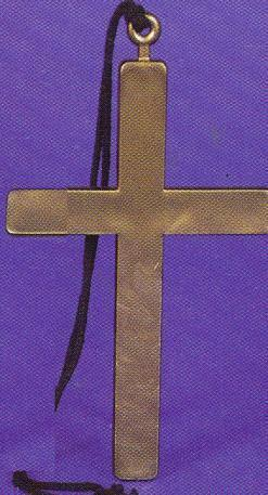CROSS FOR MONK COSTUME GOLD PLASTIC 8 inch