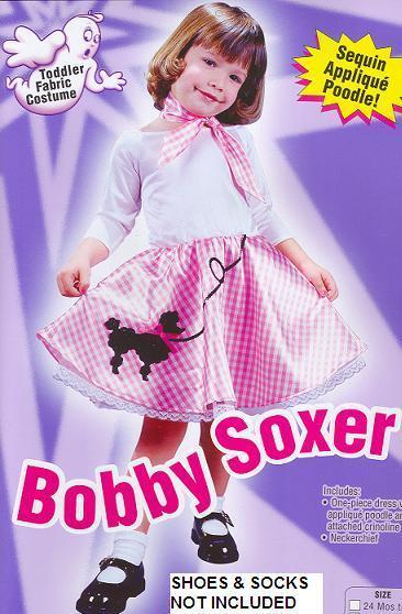 Bobby Soxer Poodle Skirt 50's 3T/4T Childs Costume