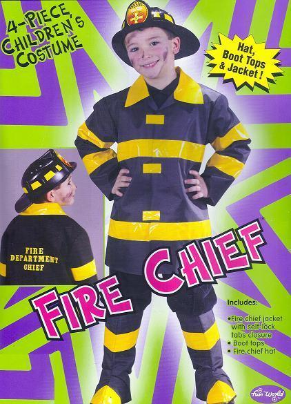 FIRE CHIEF with Hat size 12/14 Childs Costume