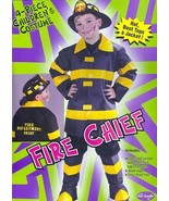 FIRE CHIEF with Hat size 12/14 Childs Costume - $29.00