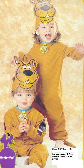 SCOOBY DOO Toddler 1/2 Childs Costume