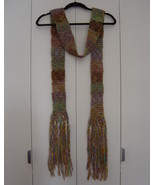 Free People Long Multicolored Knit Scarf with Fringe EUC - $35.00
