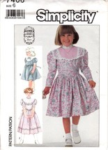 Vtg 80s Gunne Sax Pattern Simplicity 7406 Girls Dress Shaped Waistline S... - $8.99