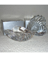 Candle Holders of Lead Crystal Shell by Gorham - $15.00