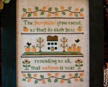 Autumn Pumpkins fall cross stitch chart Country Cottage Needlewor