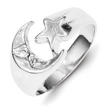 Sterling Silver Moon & Star Ring - $24.99