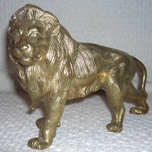 Lion Cast and Brass Plated - $9.99