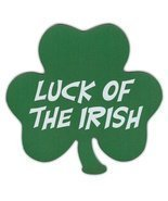 Luck of the Irish - Clover Shaped Magnet - St. Patricks Day - £4.97 GBP