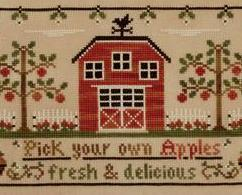 The Apple Orchard cross stitch chart Country Cottage Needleworks