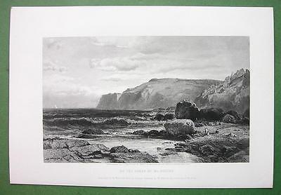 MAINE Coast of Mount Desert - SACRCE Antique Print Engraving