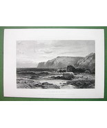 MAINE Coast of Mount Desert - SACRCE Antique Print Engraving - $21.78