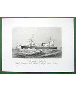 STEAMSHIP Columbus West India & Pacific Steam L... - $33.66