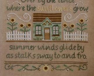 The Sunflowers in Summer cross stitch chart Country Cottage Needleworks