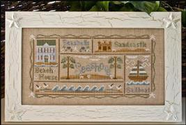 A Day At The Beach summer cross stitch chart Country Cottage Needleworks - $7.20