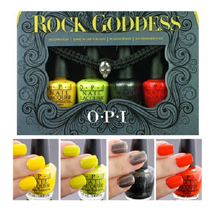 OPI 4pc ROCK GODDESS Halloween MINI Nail Polish Yellopalooza LIME Bones ... - $11.77