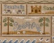 A Day At The Beach summer cross stitch chart Country Cottage Needleworks