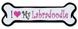 Crazy Sticker Guy Pink Dog Bone Shaped Magnet - I Love My Labradoodle (Labrador  - $6.99