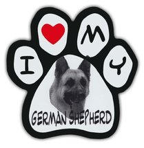 Picture Paws | Dog Paw Shaped Magnets: I LOVE MY GERMAN SHEPHERD | Car M... - $6.99