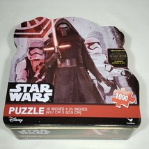 Star Wars Force Awakens 1000 Piece Jigsaw Puzzle Tin Kylo Ren Disney Com... - $14.95