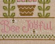 Bee Joyful cross stitch chart Country Cottage Needleworks