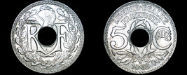 1918 French 5 Centimes World Coin - France - $10.99