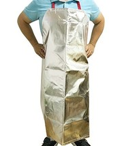 Aluminized Flame Resistant Apron Safety Work Heat Resistant Industrial W... - $33.49