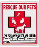 2-Pack Pet Rescue Window Stickers Decals | Alert To Fire Department Dogs... - $6.99
