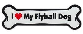 Dog Bone Shaped Car Magnets: I LOVE MY FLYBALL - $6.99
