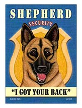 Retro Dogs Refrigerator Magnets - German Shepherd Security - Advertising... - $8.49