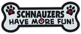 Dog Bone Shaped Magnets: Schnauzers Have More Fun! | Cars, Trucks, Mailb... - $6.99