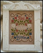 Red White and Bloom americana cross stitch chart Country Cottage Needleworks - $7.20